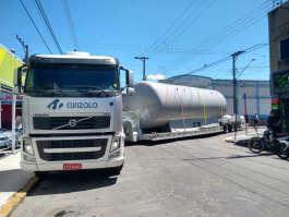 Transporte carreta lagartixa em Cruzeiro/SP