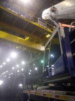 Guindaste Rodoviário ATF 90 em montagem de ponte rolante