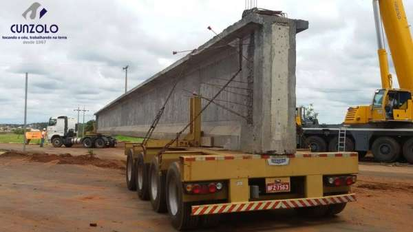 Içamento, Transporte e Montagem de Vigas com Guindastes e Caminhões em Ourinhos - SP