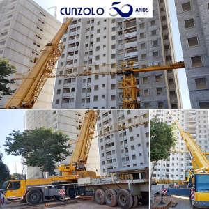 Desmontagem e transporte de módulos de grua em Itatiba-SP