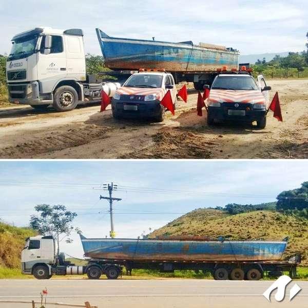 Operações de transporte e içamento de vigas em Araçoiaba da Serra-SP.